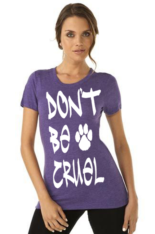 Don't Be Cruel Women's Purple Paw Shirt