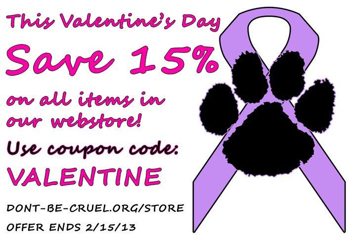 Valentine's Day Sale for Don't Be Cruel.org