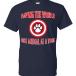 Saving the World One Animal At A Time - Don't Be Cruel.org Animal Abuse Awarenss t-shirt