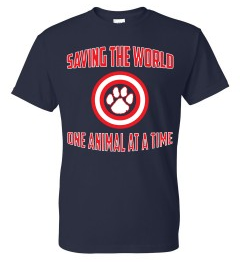 Saving the World One Animal At A Time - Don't Be Cruel.org t-shirt
