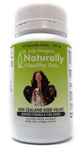 Dr. Judy Morgan's Naturally Healthy Pets New Zealand Deer Velvet Senior Formula for Dogs