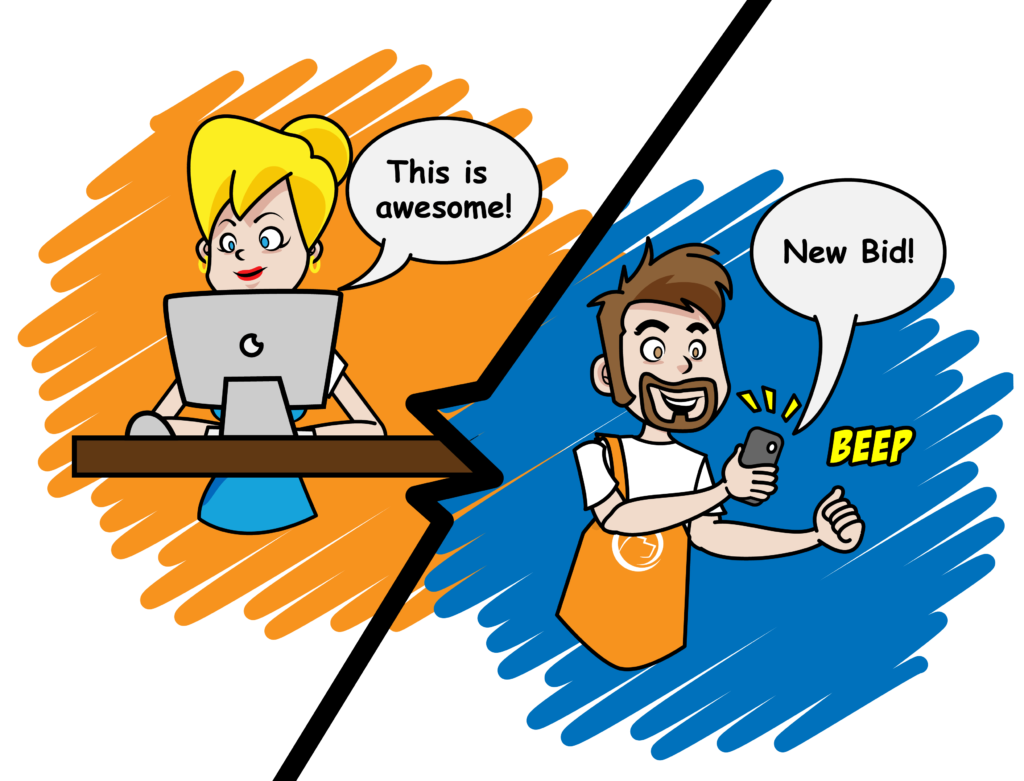 PetBidder sales app for pet service business owners
